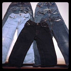 7 pairs of 4T jeans! EUC!